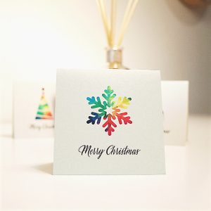wrapt up xmas card pack snowflake