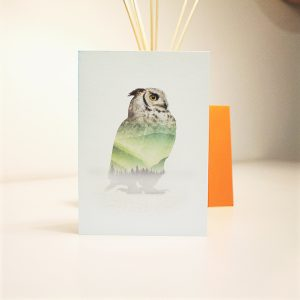 wrapt up xmas homemade card owl