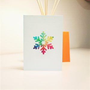 wrapt up xmas homemade card xmas snowflake