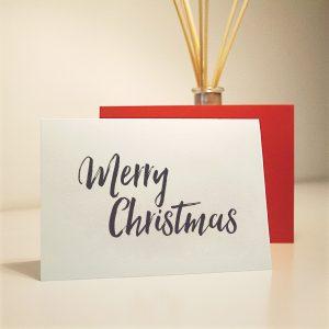 wrapt up xmas homemade card xmas words